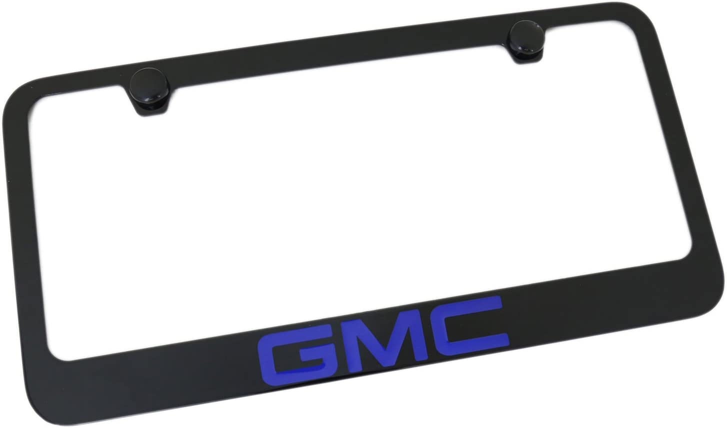 Blue Elite Automotive Products Inc Black Fill License Plate Frame for GMC