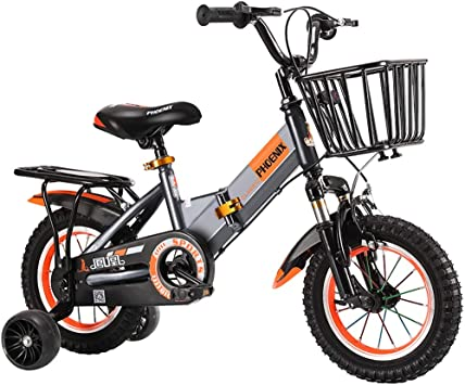 Bxiao Bicicleta para niños Gris, Bicicleta niño niña 2-3-6 años de ...