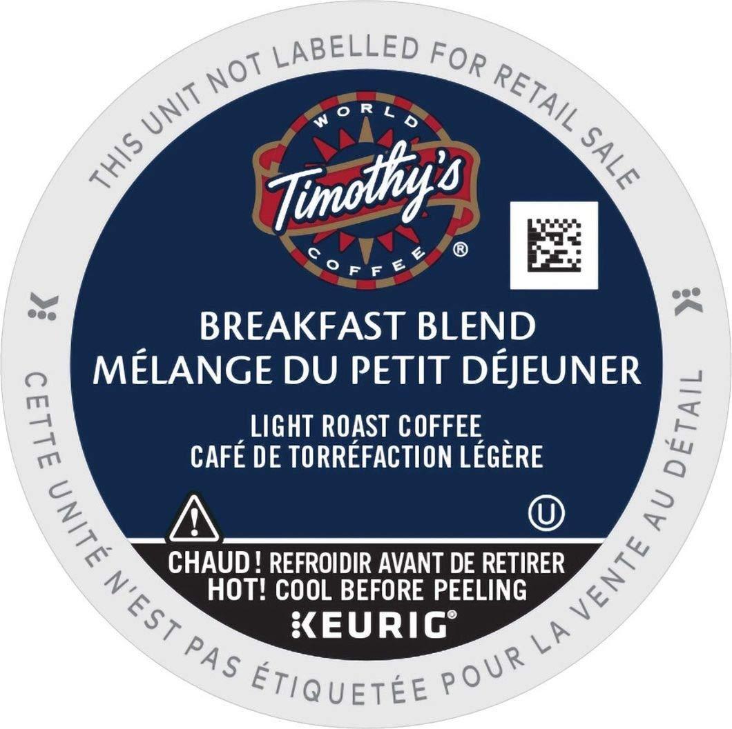 Timothy's World Coffee Breakfast Blend 96 K-Cups