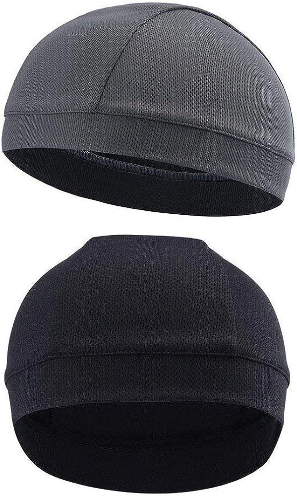 2 Pack Sweat-Wicking Helmet Liner Cooling Skull Cap for Men & Women Mesh Top Airway Cooling