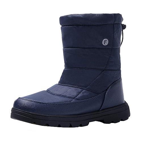 6a504dc1a46b78 Amazon.com: RZEN 1811lan44 High Top Snow Boots for Men Waterproof Non-Slip  Warm Outdoor Lightweight Hiking Women Winter Shoes Navy Blue: Shoes