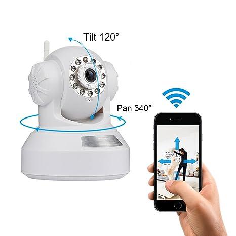 INKERSCOOP Cámara IP 720P HD Cámara de Seguridad Inalámbrica WiFi ...