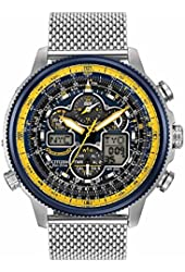 Citizen Eco-Drive JY8031-56L Mens Blue Angel Navihawk AT Chronograph World Watch