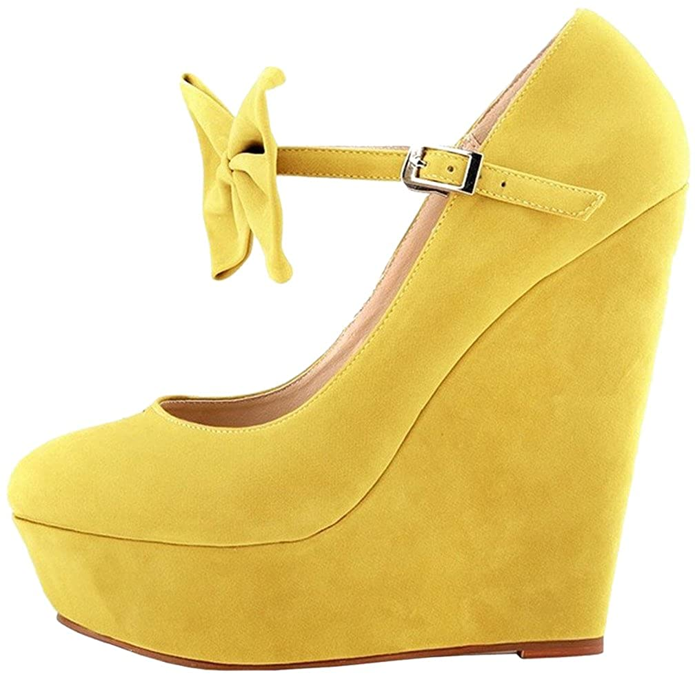 Calaier  Caeverything, Damen Pumps, gelb - gelb gelb - - Größe: 44- f9b932
