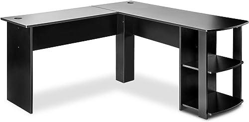 HOMMOO L-Shaped Computer Office Desk 55.1Inch Corner Computer Desk