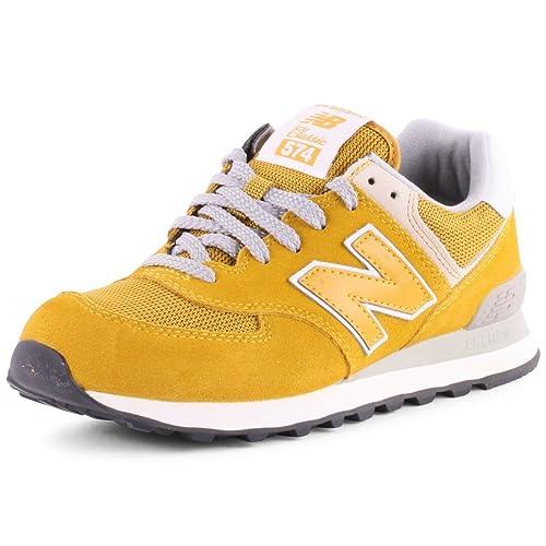 new balance 574 femme jaune moutarde