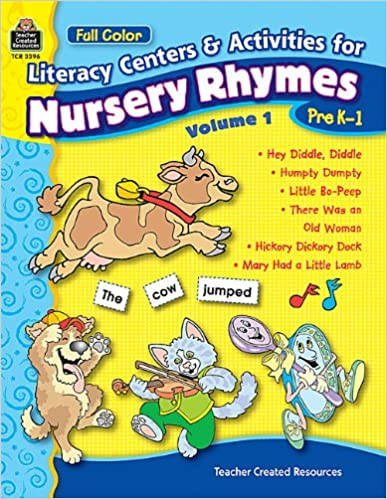 Full Color Literacy Centers Activities For Nursery Rhymes Volume 1