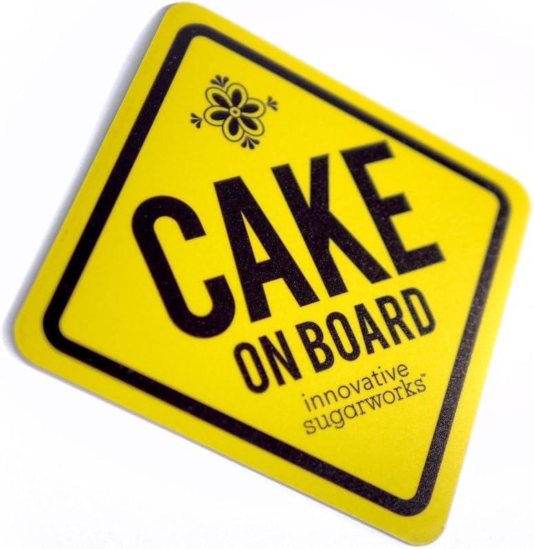 Innovative Sugarworks Cake on Board Car Magnet, Yellow
