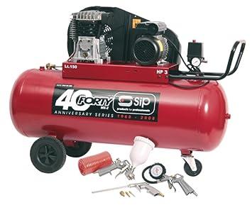 SIP 04292 3HP Forty 150-SRB - Compresor de Aire (150 L, Incluye Kit de 7 Piezas): Amazon.es: Coche y moto