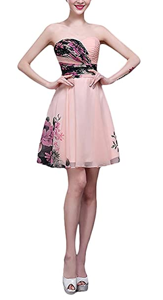 Mujer Vestidos De Fiesta para Bodas Elegantes Vintage Gasa Estampados De Flores Fiesta Estilo Vestidos Largos