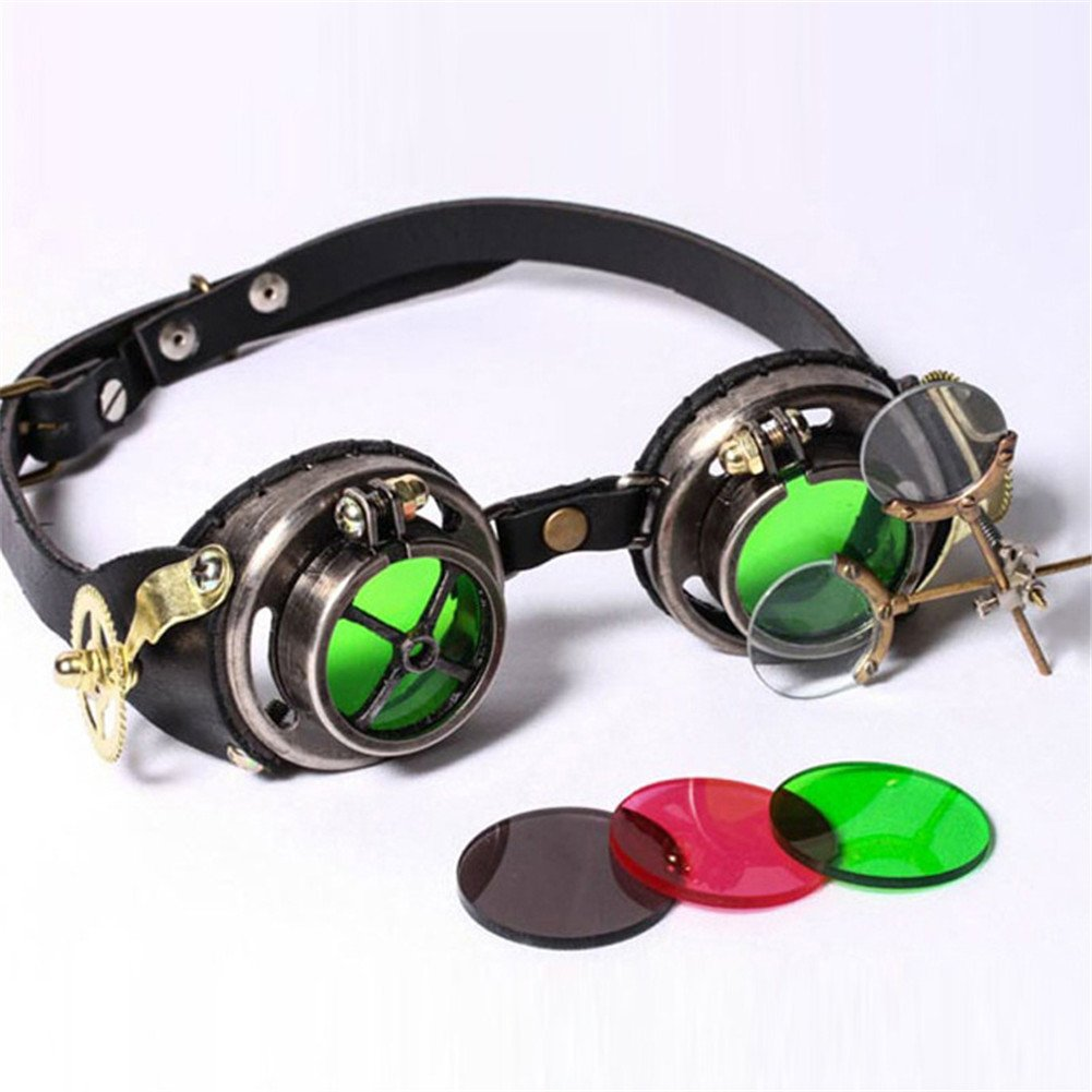 JACKDAINE Steampunk Industrial Goggles