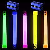 "6"" Premium Lumistick Glow Light Sticks Mixed Colors (50 Sticks)"