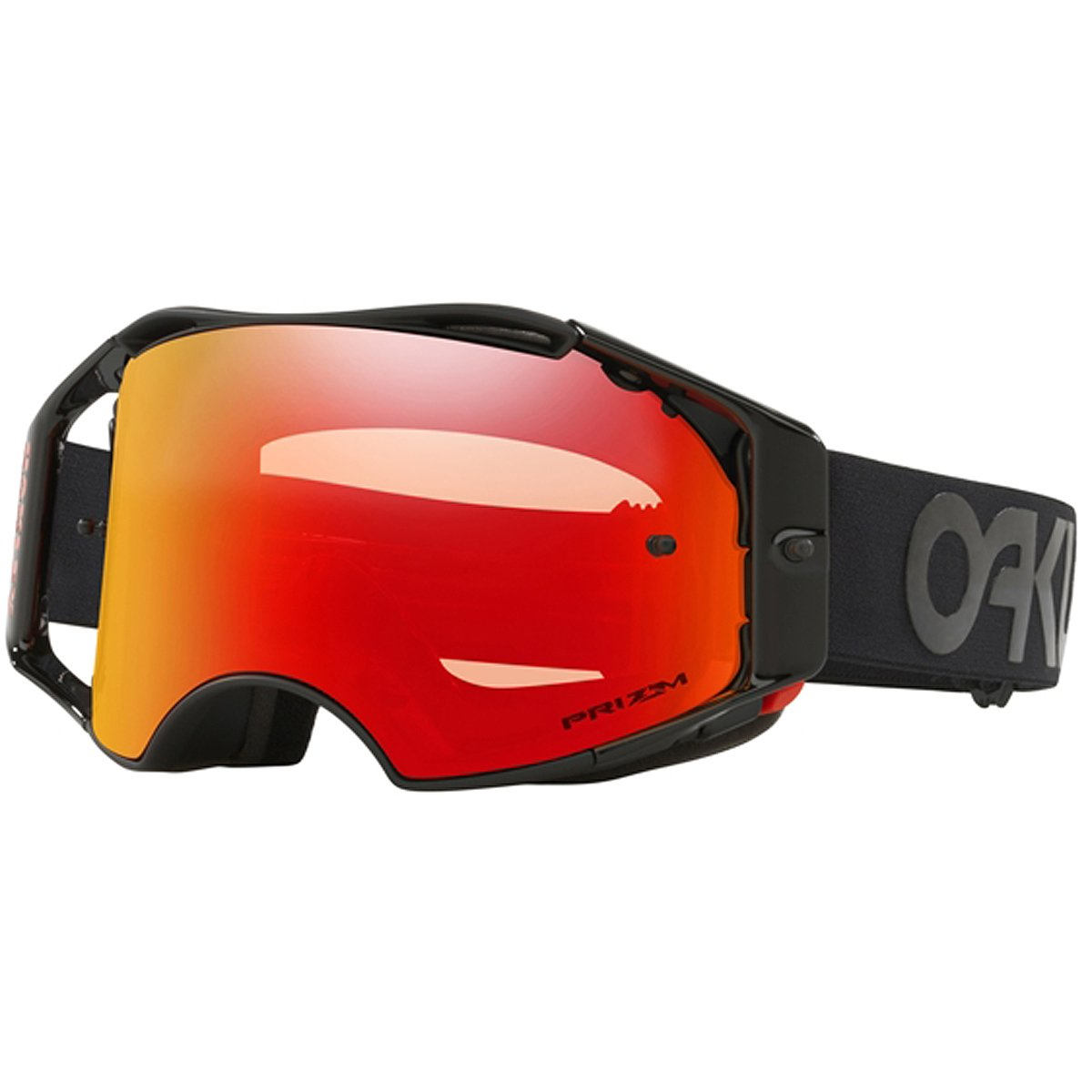 Oakley ABMX FP Blackout with Prizm MX Torch unisex-adult Goggles (Black, Medium), 1 Pack