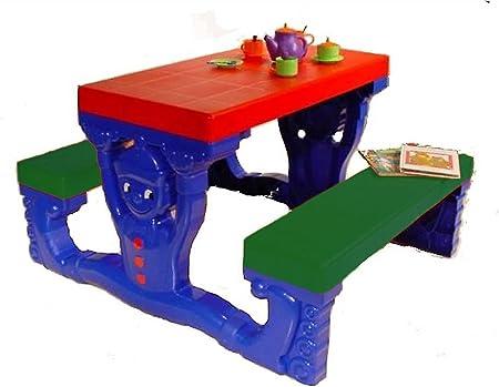 Panchine In Plastica Per Esterni.Divertente Tavolo Per Bambini In Plastica Per Esterni Ed Interni