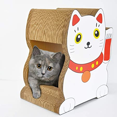 XinC - Caja de cartón para rascar Gatos, diseño de Gato: Amazon.es: Hogar