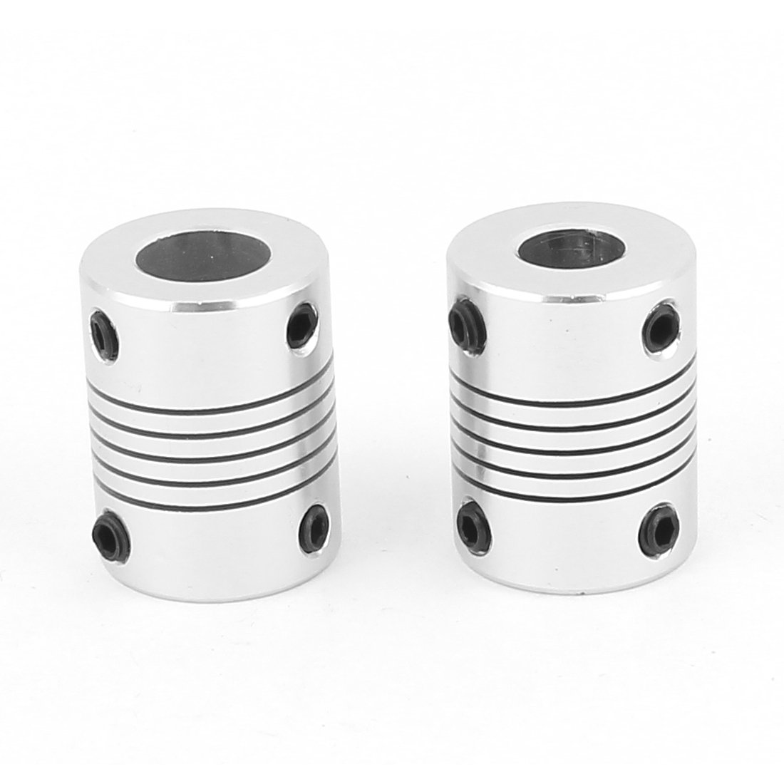 sourcing map 2 Pcs Motor Shaft Dia 8mm to 10mm Joint Helical Beam Coupler Coupling D19L25 a16030800ux0222