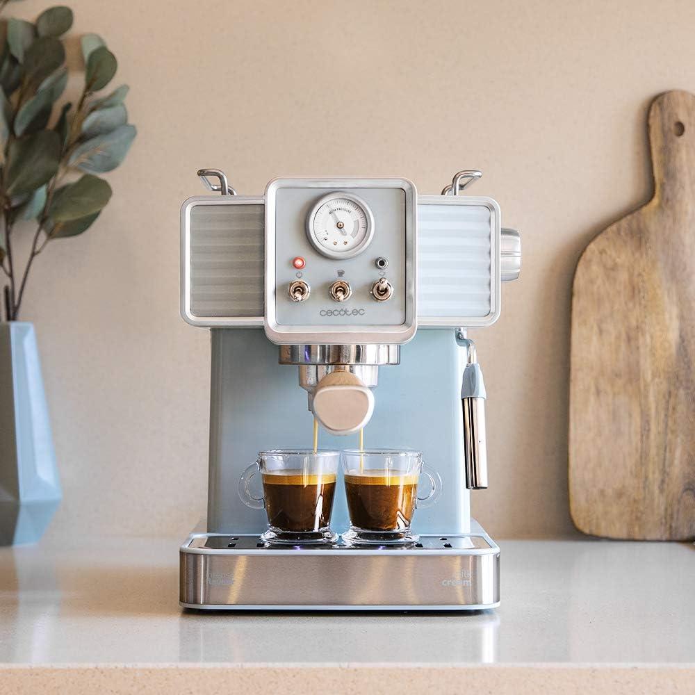 Cecotec Cafetera Express Power Espresso 20 Tradizionale para espressos y cappuccinos, rápido Sistema de Calentamiento por thermoblock, 20 Bares, manómetro PressurePro y vaporizador orientable: Amazon.es: Hogar