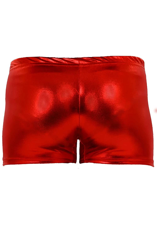 FANTASIA BOUTIQUE ® Girls Metallic Gymnastics Gym Dance Stretch Party Children's Hot Pants Shorts /