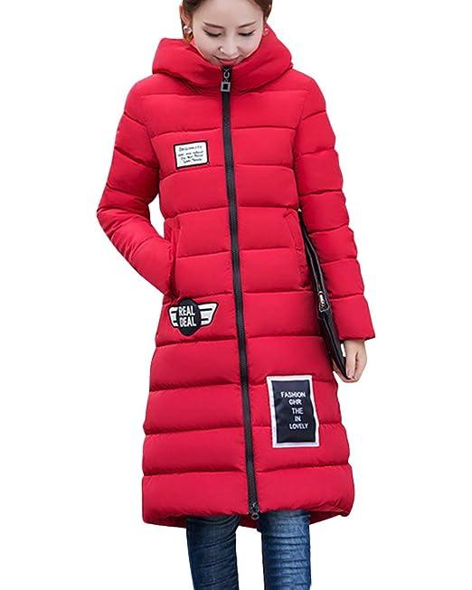 Mujer Cazadoras De Invierno Abrigos Plumiferos Temperamento Chaquetas Slim Chaquetones Rojo S: Amazon.es: Ropa y accesorios