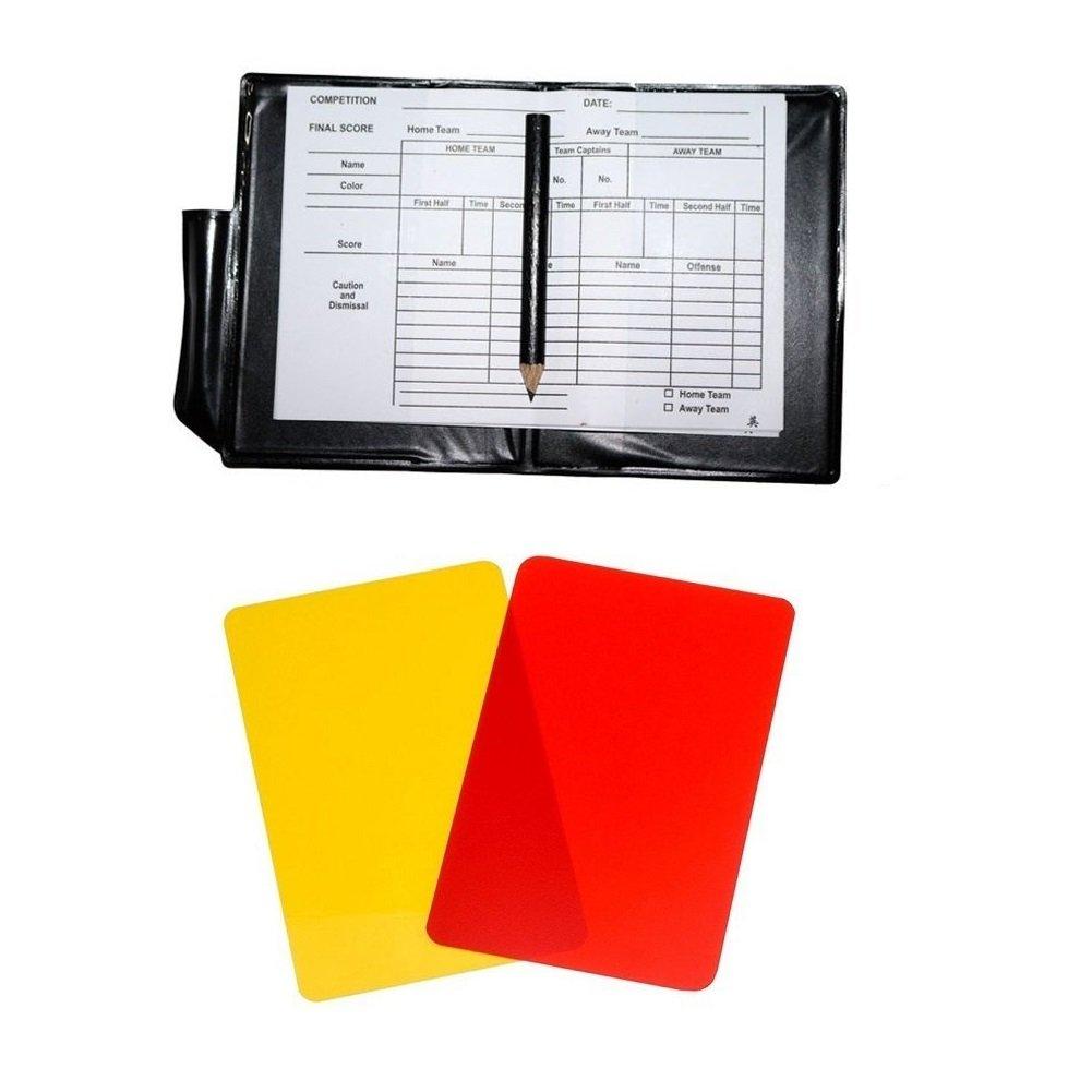Friencity Deportes /Árbitro Conjunto Tarjeta Amarilla roja y 2 Piezas