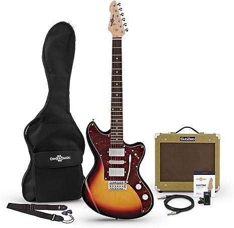 Guitarra Electrica Seattle + Pack de Ampli SubZero V35RG - Sunburst