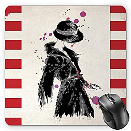 8670495d942be Amazon.com : BGLKCS Fashion Mouse Pad by, Modern Woman in a Cool ...