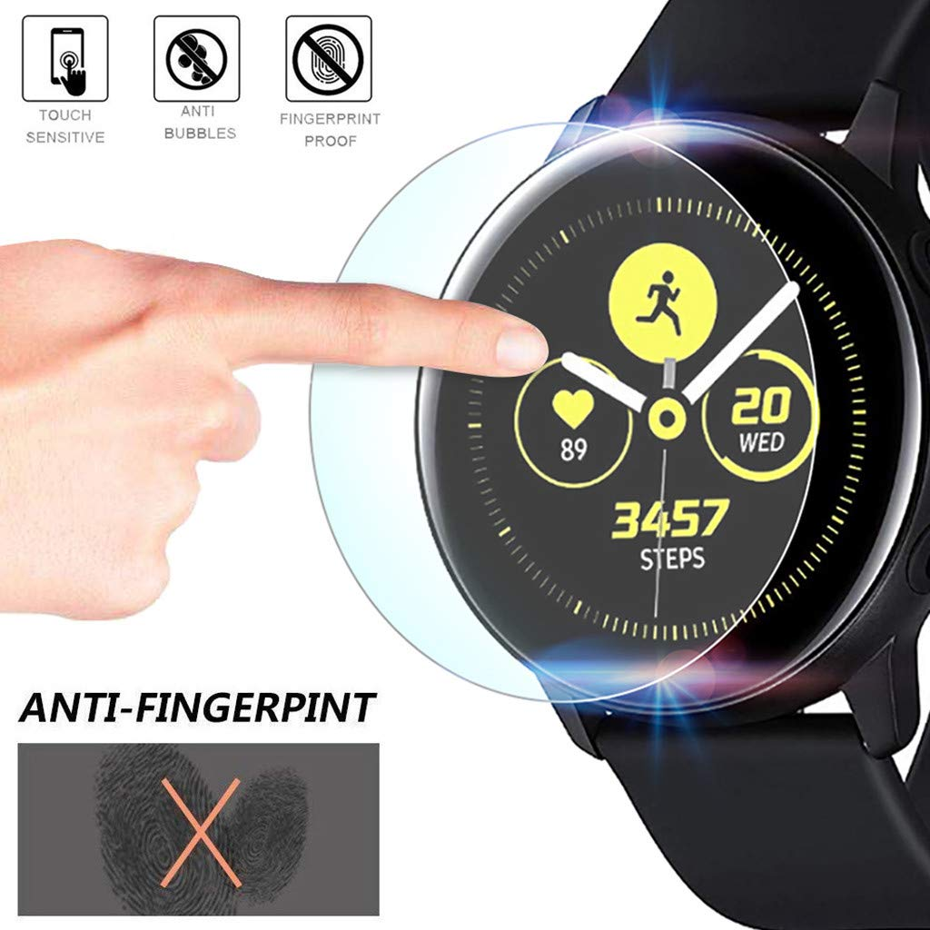 (2Pack) Tuscom Compatible Samsung Galaxy Watch Active 40mm Screen Protector, Explosion-Proof Anti Bubble TPU Screen Protector Gurad Film for Samsung Galaxy Watch Active (2Pack)