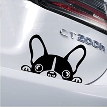 Amazoncom Cute Car Sticker Dog Peeping Design Reflective Tape - Stickers for the car
