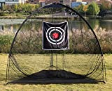 Galileo 8'x7'x7' Golf Net Training Hitting Golf Net with Target for Practice Indoor Outdoor Aid