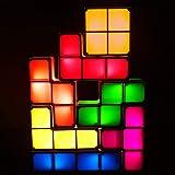 Bitopbi 7 PCS Tetris Stackable Night Light 3D