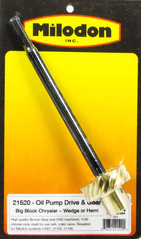 Milodon 21520 8.5 Oil Pump Shaft with Bronze Gear for Big Block Mopar