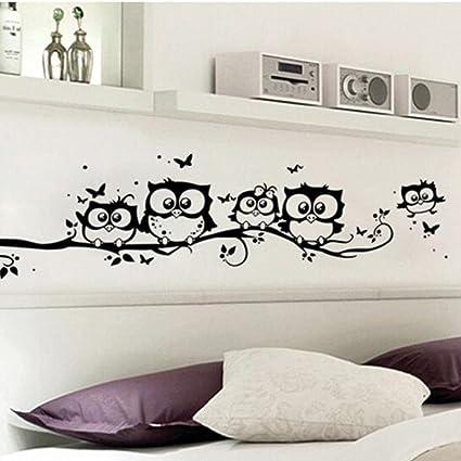 Amazon Com Liping 21 6 9 8 Kids Vinyl Art Cartoon Owl Wall
