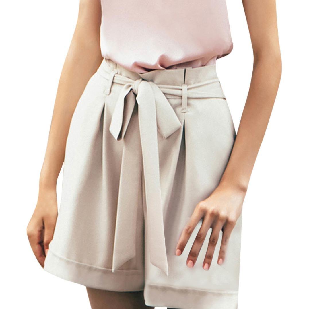 Sommerhosen Damen Kurz Luckycat Shorts Damen Sommer Locker Damen Leggings Solid Color Lace Shorts Hose Sommerhosen Pants Hosen