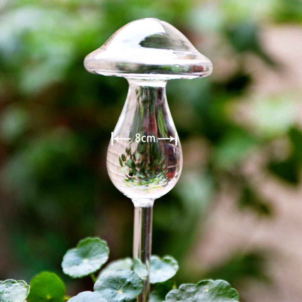 Springdoit Dispositivo d'innaffiatura automatica del vetro del fungo, irrigatore automatico del dispositivo d'innaffiatura, decorazione d'innaffiatura del giardino vegetale