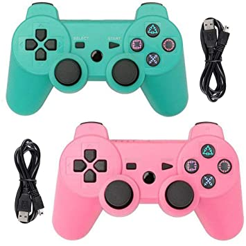 Amazon.com: Tidoom PS3 Controller 2 Pack Wireless Bluetooth ...