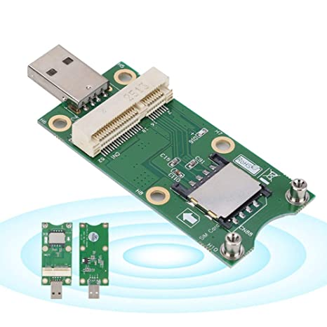 Kafuty Mini PCI-E a USB (con Tarjeta SIM) Placa de ...
