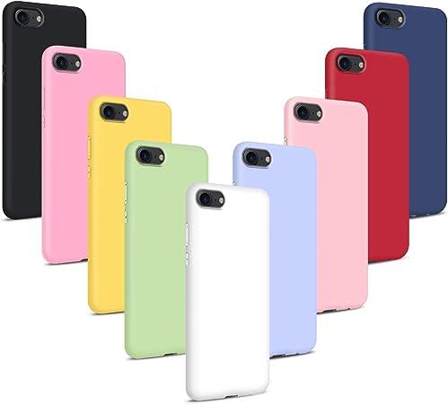9X Cover per iPhone 6/ iPhone 6S, Custodie Morbido Silicone Case Tinta Unita Ultra Sottile TPU Flessibile Gomma Protezione Posteriore Antiscivolo ...