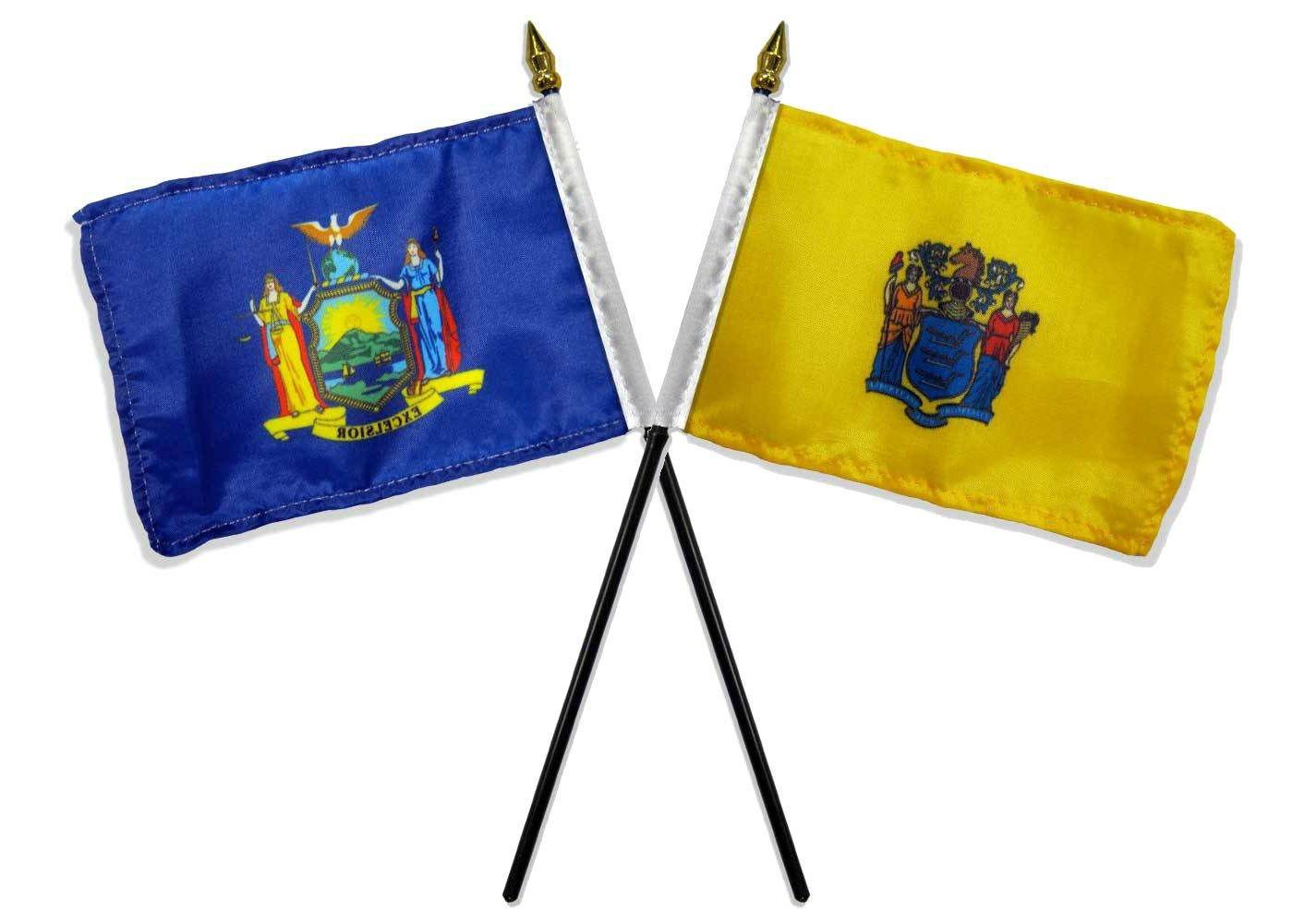 State New York & Nueva Jersey banderas 4