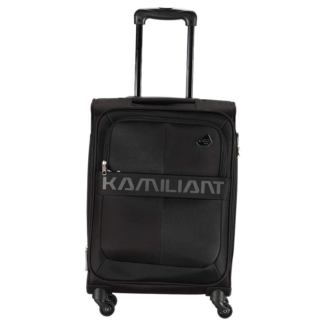 [Apply Coupon] - Kamiliant by American Tourister Kam Oromo Polyester 58 cms Black Softsided Cabin Luggage (KAM Oromo SP 58 cm - Black)