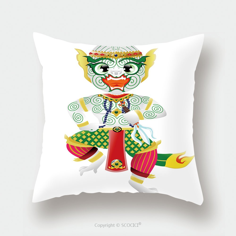 Custom Satin Pillowcase Protector Hanuman Monkey In Thai Style 274012019 Pillow Case Covers Decorative