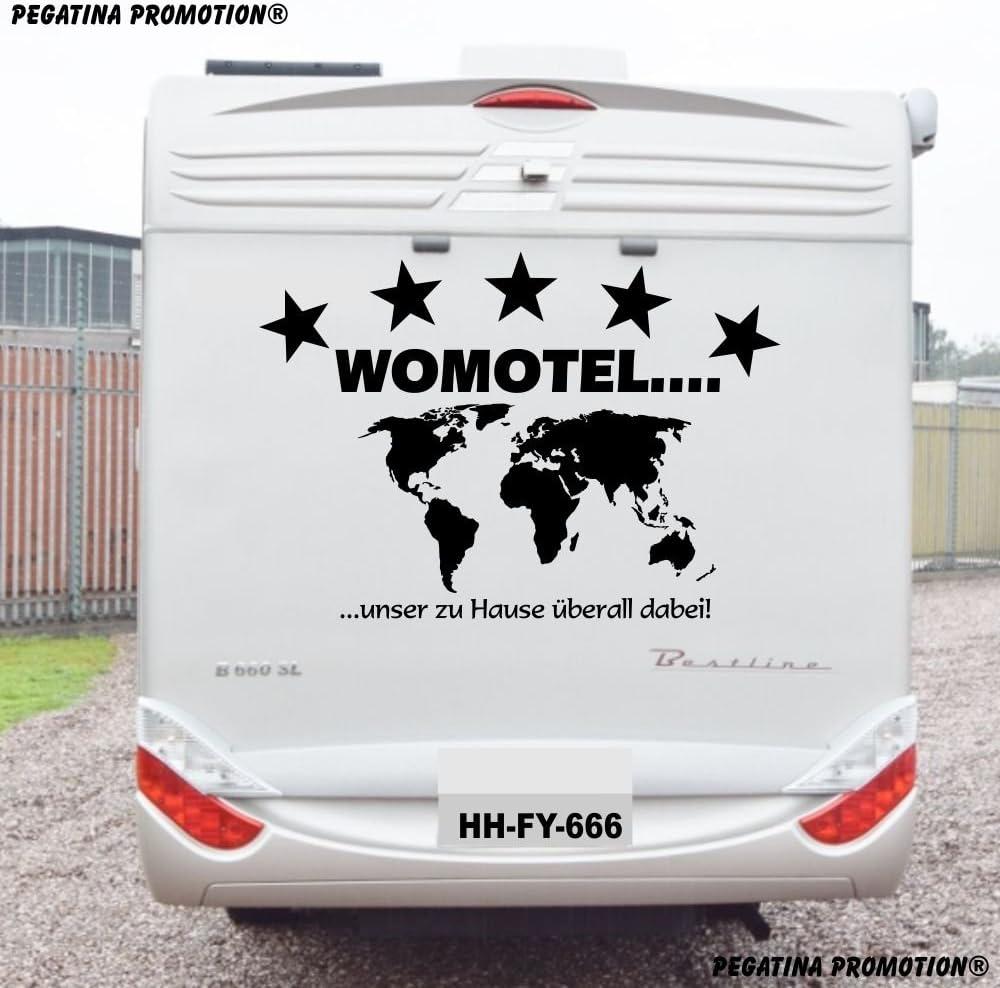 5 Sterne Womotel Unser Zu Hause Ist überall Aufkleber Ca 100x60 Cm Für Wohnmobil Wohnwagen Womo Wowa Caravan Lustige Sprüche Lustiger Spruch Von Pegatina Promotion Auto