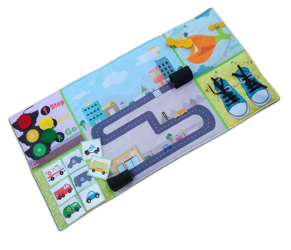 Play Mat, Busy mat, Felt Play Mat, quiet book Activity play or Play Mat, Panel Mat, Toy Car mat, toy car play mat, Activity play, Gift boy