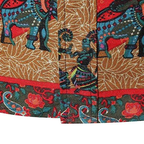 Slim Fit Lunga shirt A Eleganti Uomo yanhoo Stampata Casual manica Superiore Da Lunghe Divertenti T Magliette Camicetta Con Manica Delle Lunga Maniche Uomo Multicolore1 camicia aqg1wgTFx
