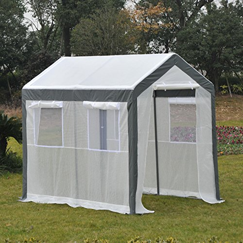 Outsunny 8′ x 6′ x 7′ Heavy Duty Walk in Greenhouse