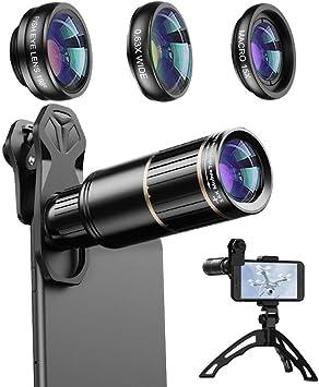 Apexel Phone Camera Clip en Lente Kit Lente Telefoto 16X, Lente ...