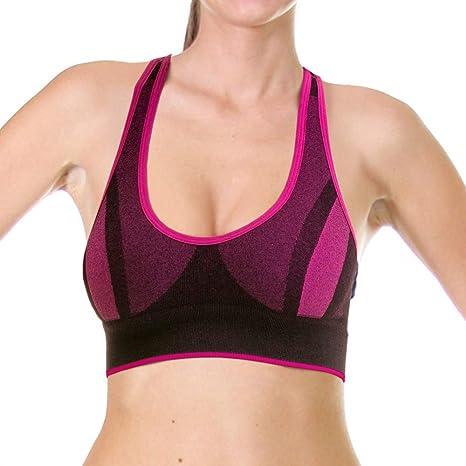 LUPO - Sujetador Deportivo para Mujer, Mujer, 71418-001, Rosa ...