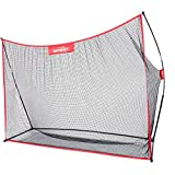 Winnet Golf Net 10 x 7 ft, Golf Training Aids, Hitting Practice Driving net, Black Polyester Knotless Nets
