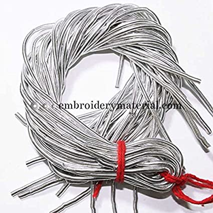 Amazon Com 3mm French Metallic Wire In Silver Colour 5 Yardpacket