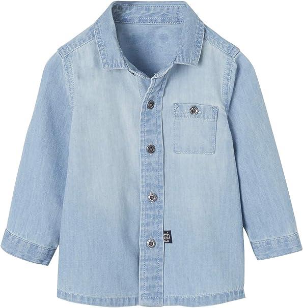 VERTBAUDET Camisa Vaquera para bebé niño: Amazon.es: Ropa y accesorios