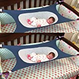 Malloom Infant Safety Bed Baby Hammock Bed Detachable Portable Sleeping Bed (Blue)